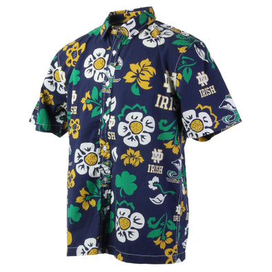 Wes & Willy Notre Dame Fighting Irish Men's Floral Shirts