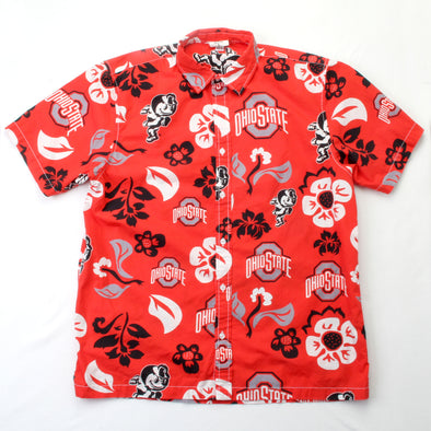 Wes & Willy Ohio State Buckeyes Men's Floral Shirt