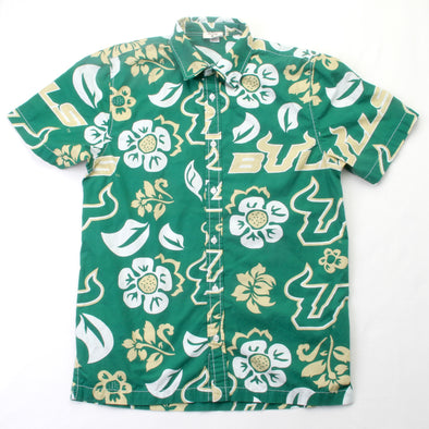 Wes & Willy South Florida Bulls Men's Floral Shirt