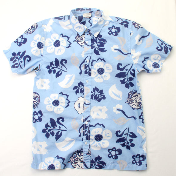 Wes & Willy North Carolina Tar Heels Men's Floral Shirt