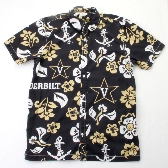 Wes & Willy Vanderbilt Commodores Men's Floral Shirt
