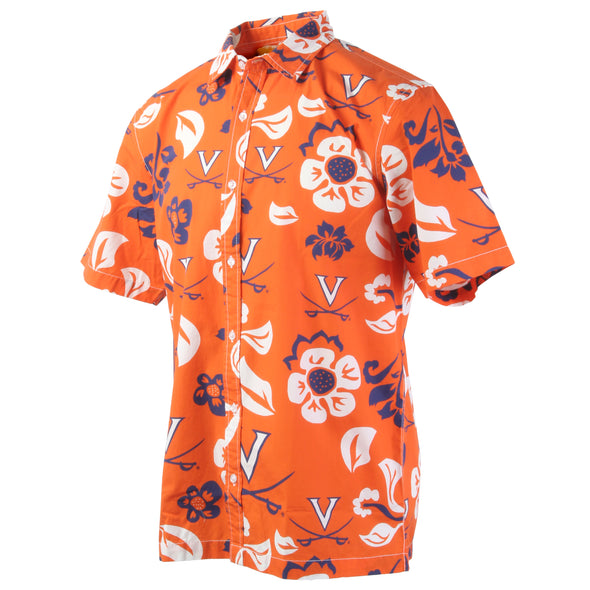 Wes & Willy Virginia Cavaliers Men's Floral Shirt