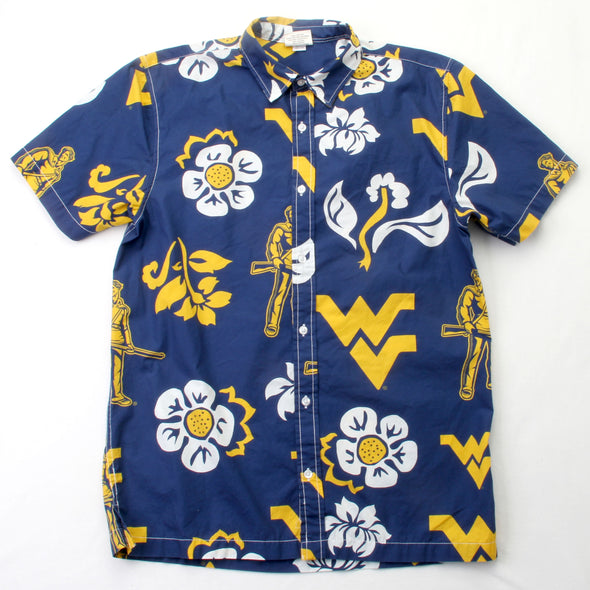 Wes & Willy West Virginia Mountaineers Men's Floral Shirt