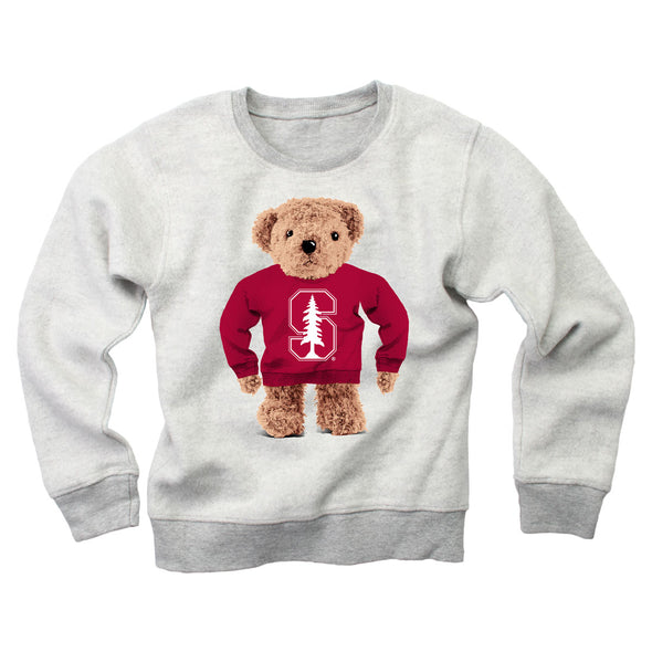 Wes & Willy Stanford Cardinal Teddy Bear Sweatshirt
