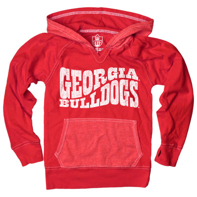 Wes & Willy Georgia Bulldogs Girl's Colorblock Hoodie