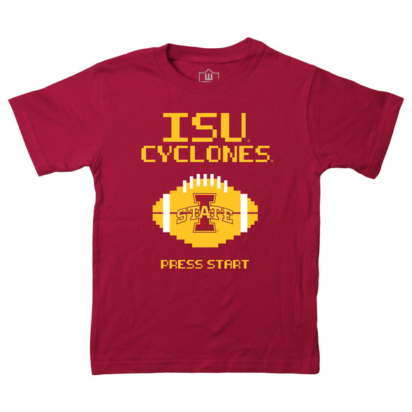 Wes & Willy Iowa State Cyclones Boy's Press Start Tee
