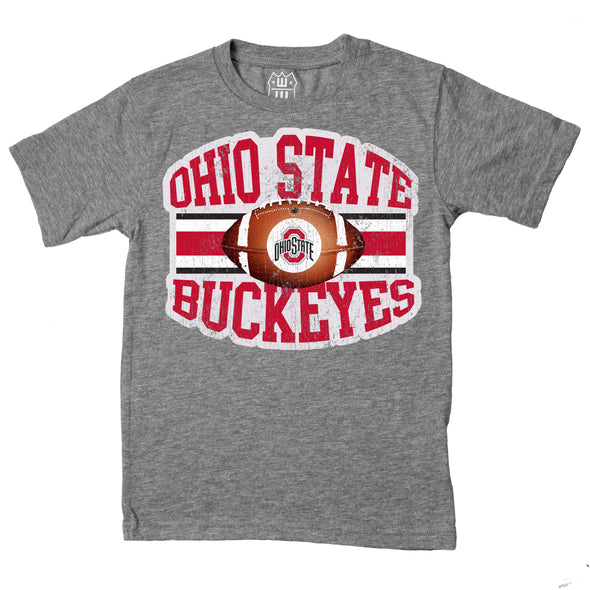 Wes & Willy Ohio State Buckeyes Youth Boys Football Tee