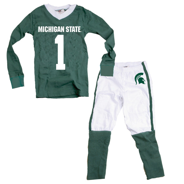 Wes & Willy Michigan State Spartans #1 Football Pajamas