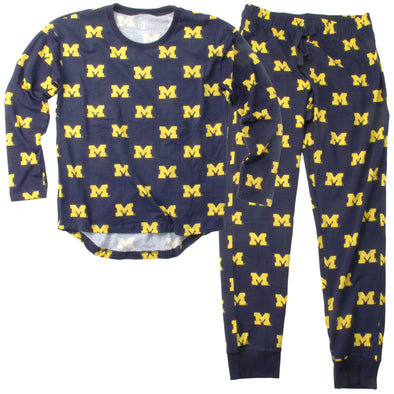 Wes & Willy Michigan Wolverines Women's Pajama