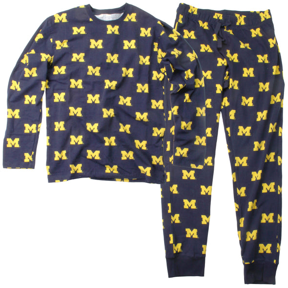 Wes & Willy Michigan Wolverines Men's Pajama