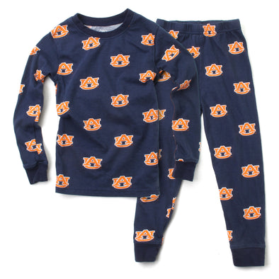 Wes and Willy Auburn Tigers Allover Printed Pajamas
