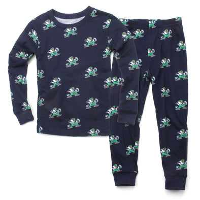 Wes and Willy Notre Dame Fighting Irish Allover Print Pajama