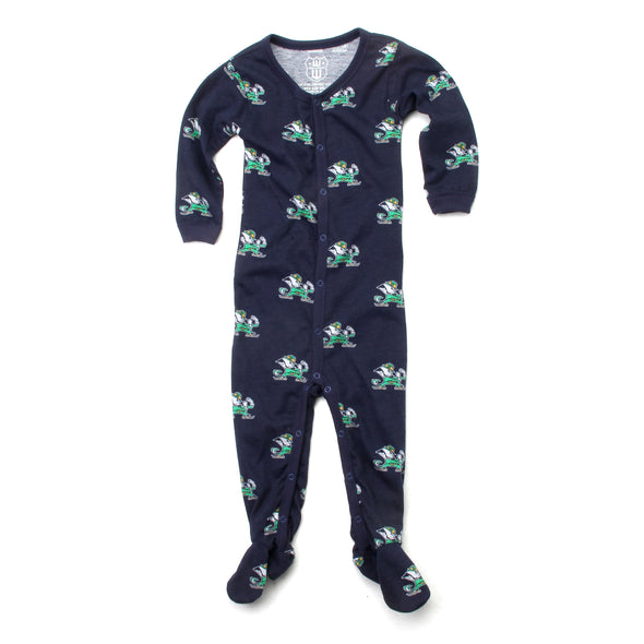 Wes and Willy Notre Dame Fighting Irish Infant Footie Pajama