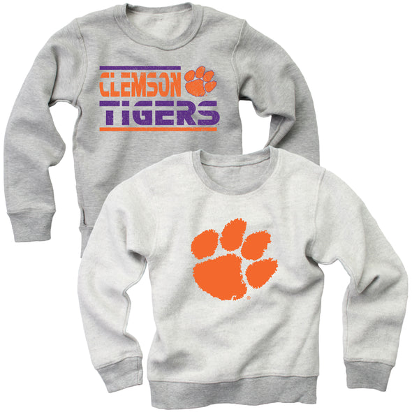 Wes & Willy Clemson Tigers Boy's Reversible Sweat Shirt