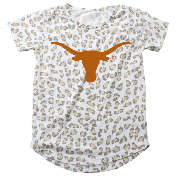 Wes & Willy Texas Longhorns Girls Leopard Tunic