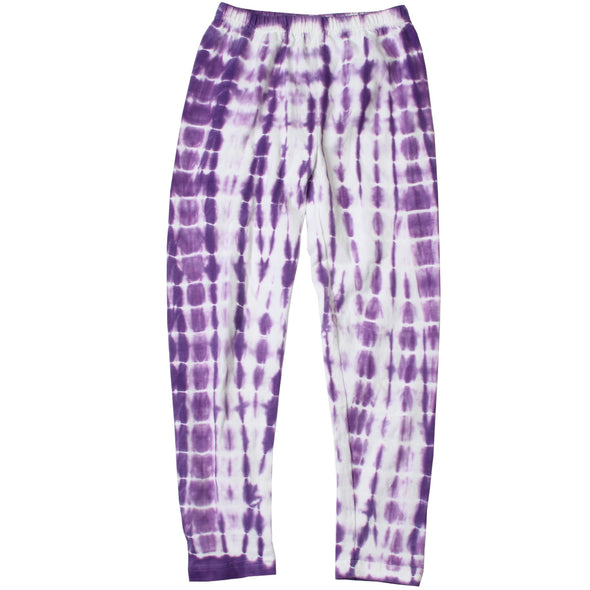 Wes and Willy Girl's Tie Dye Leggings - Grape