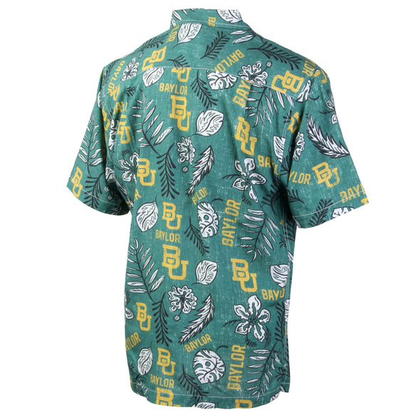Wes and Willy Baylor Bears Men's Vintage Floral Shirt