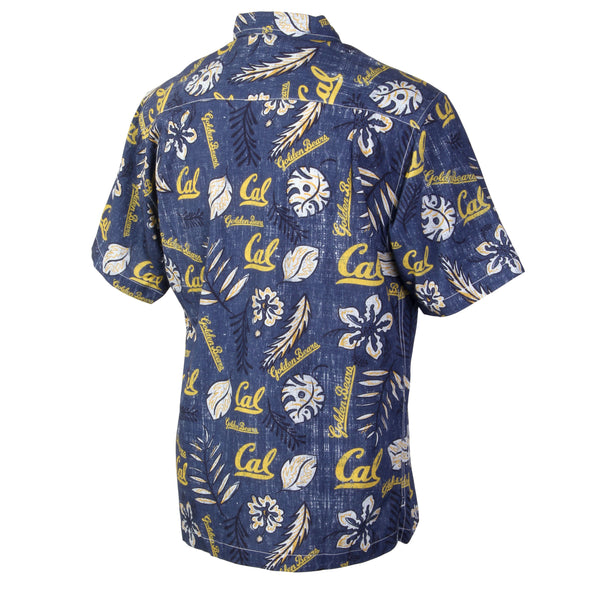 Wes and Willy California Golden Bears Men's Vintage Floral Shirt