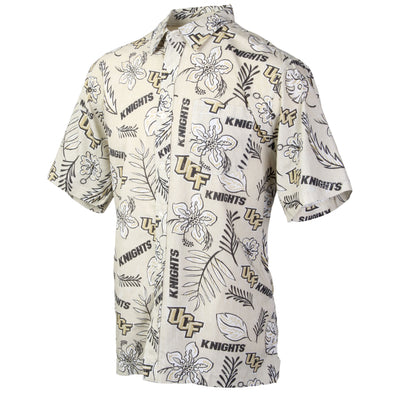 Wes and Willy Central Florida Knights Men's Vintage Floral Shirt