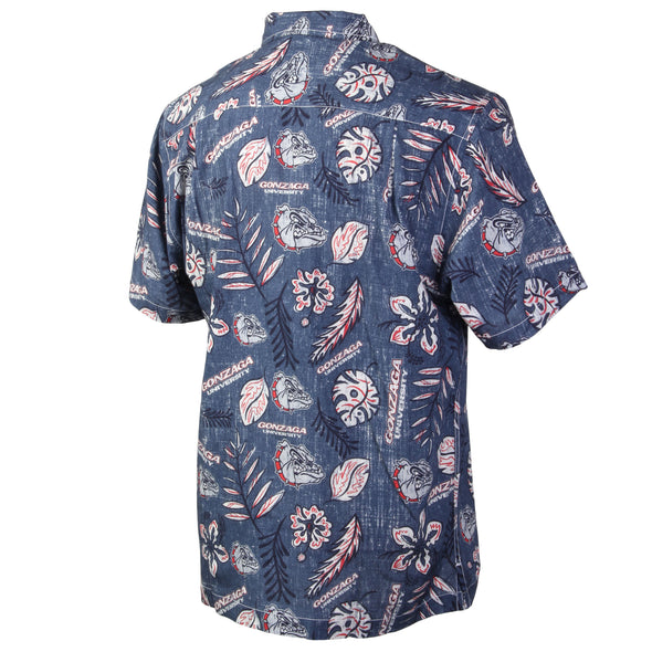 Wes and Willy Gonzaga Bulldogs Men's Vintage Floral Shirt