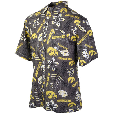 Wes and Willy Iowa Hawkeyes Men's Vintage Floral Shirt
