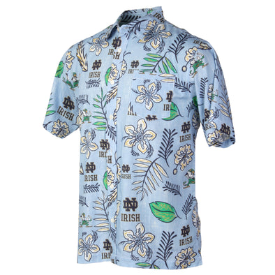 Wes and Willy Notre Dame Fighting Irish Men's Vintage Floral Shirt