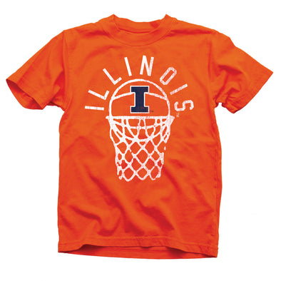 Wes & Willy Illinois Fighting Illini Youth Basketball Tee