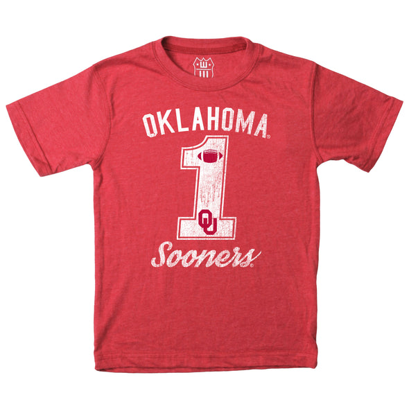 Wes & Willy Oklahoma Sooners Boy's Blended SS Tee