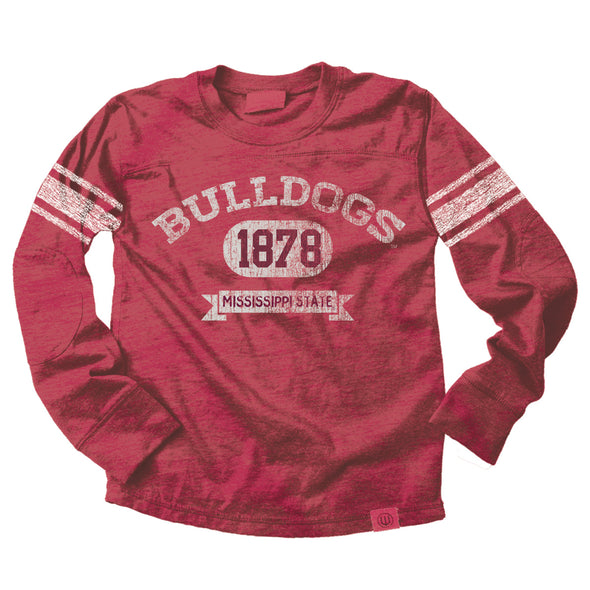 Wes & Willy Mississippi State Bulldogs Boy's Blended Jersey