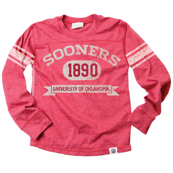 Wes & Willy Oklahoma Sooners Boy's Blended Jersey