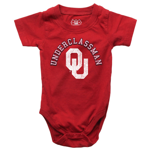 Wes & Willy Oklahoma Sooners Infant's SS Bodysuit