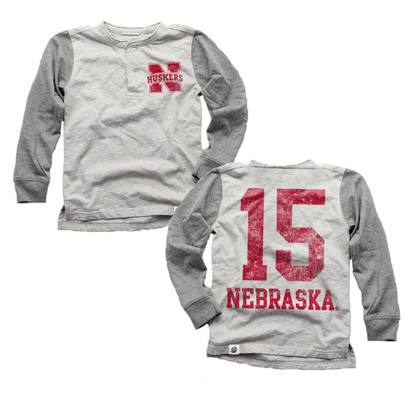 Wes & Willy Boy's Nebraska Cornhuskers Henley