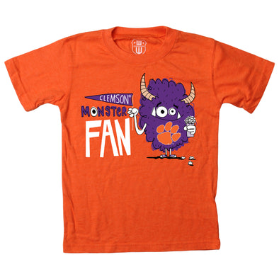 Wes & Willy Clemson Tigers Boy's Monster Fan Tee