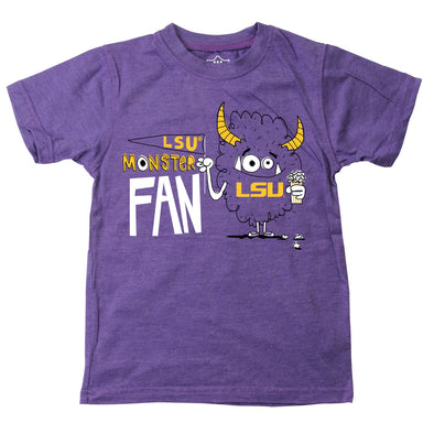 Wes & Willy LSU Tigers Boy's Monster Fan Tee Shirt