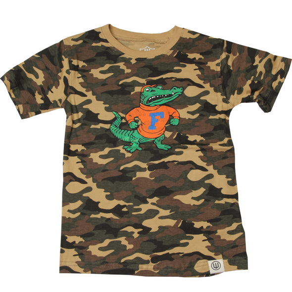 Wes & Willy Florida Gators Boy's Camo Tee