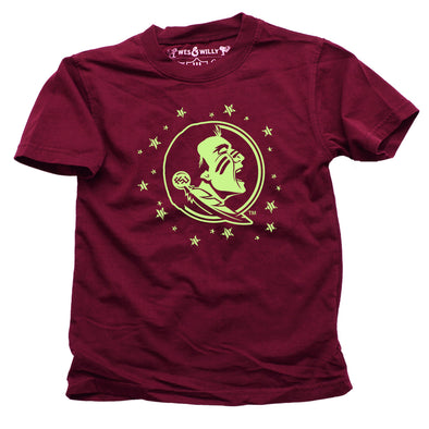 Wes & Willy Florida State Seminoles Glow in the Dark Tee