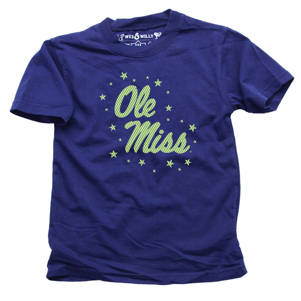 Wes & Willy Ole Miss Rebels Glow In The Dark SS Tee