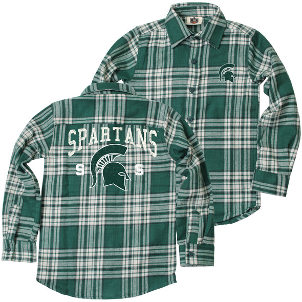 Wes & Willy Michigan State Spartans Boy's Flannel Shirt