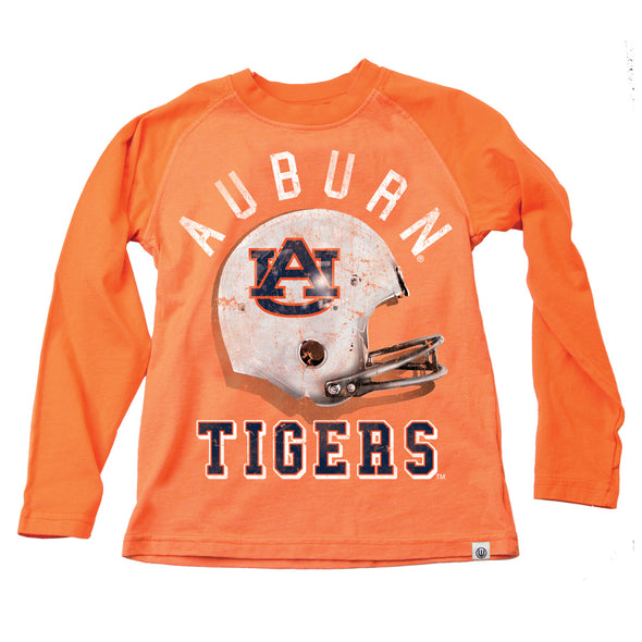 Wes & Willy Auburn Tigers Boy's Football Helmet Raglan