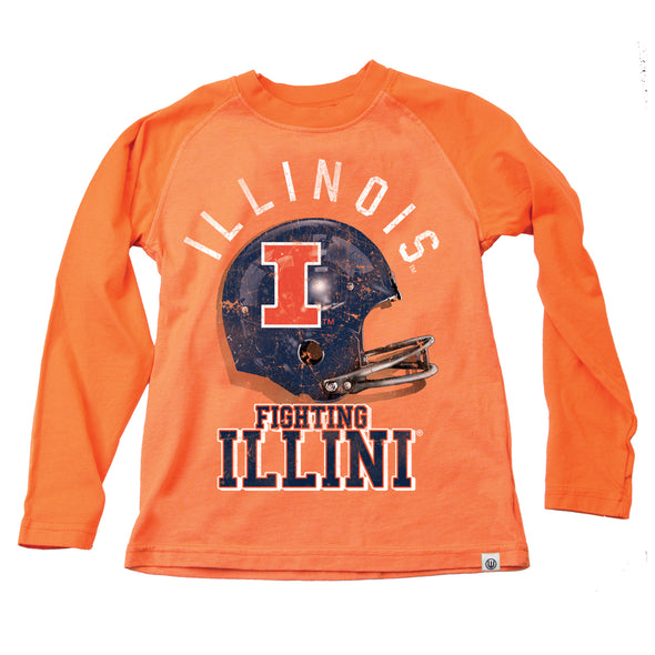 Wes & Willy Illinois Fighting Illini Boy's Football Helmet Raglan