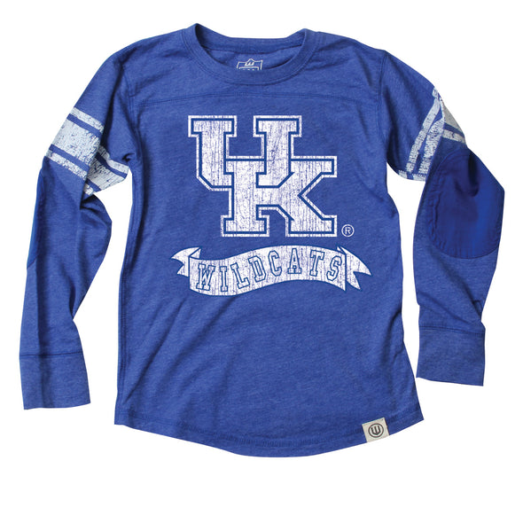 Wes & Willy Kentucky Wildcats Boy's Sleeve Stripe Tee