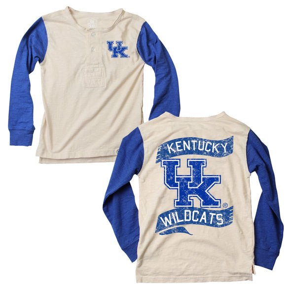 Wes & Willy Kentucky Wildcats Boy's Slub Henley