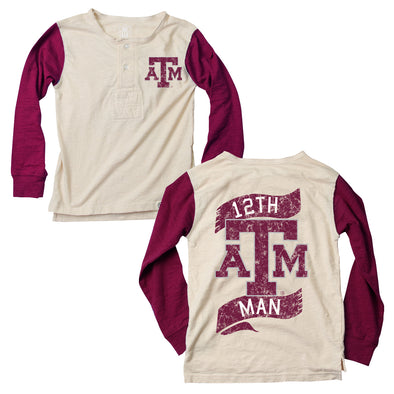 Wes & Willy Texas A&M Aggies Boy's Slub Henley