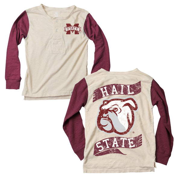 Wes & Willy Mississippi State Bulldogs Boy's Slub Henley