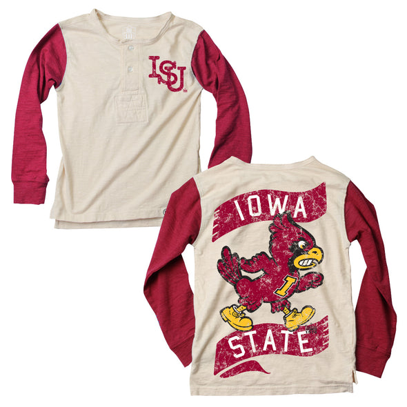 Wes & Willy Iowa State Cyclones Boy's Slub Henley