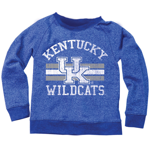 Wes & Willy Kentucky Wildcats Boy's Blended French Terry Crew