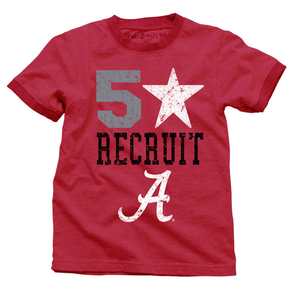 Wes & Willy Alabama Crimson Tide Boy's SS Ringer