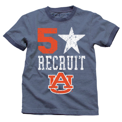 Wes & Willy Auburn Tigers Boy's 5 Star Recruit Tee