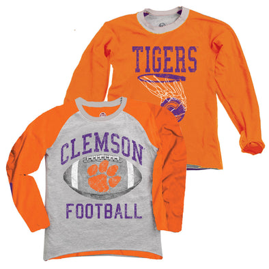Wes & Willy Clemson Tigers Boy's Inside Out Tee