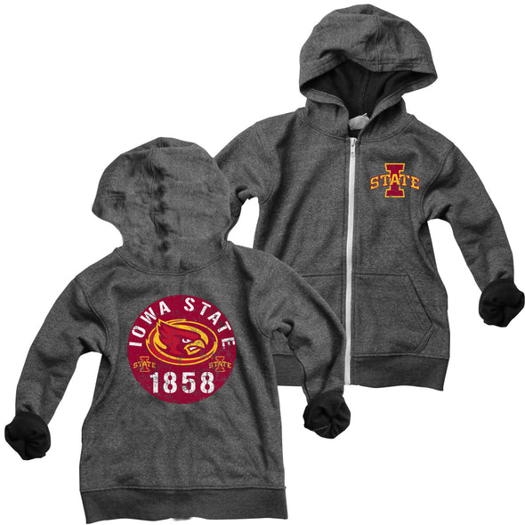 Wes & Willy Iowa State Cyclones Boy's Zip Hoodie